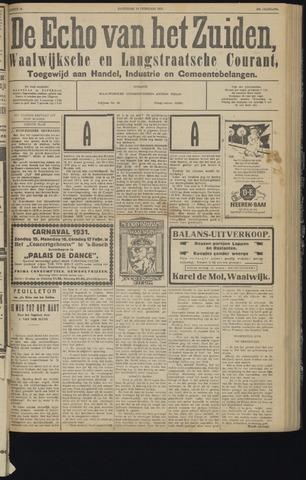 Echo van het Zuiden 1931-02-14