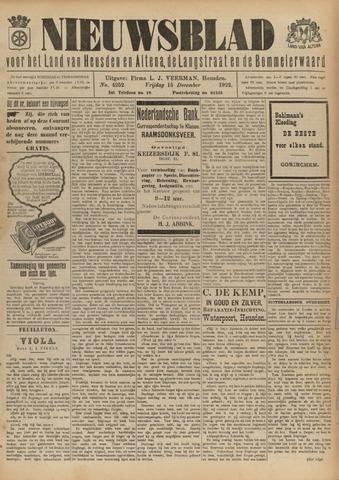 Nieuwsblad het land van Heusden en Altena de Langstraat en de Bommelerwaard 1922-12-15