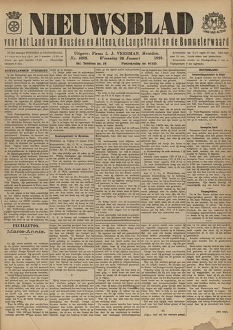 Nieuwsblad het land van Heusden en Altena de Langstraat en de Bommelerwaard 1923-01-24