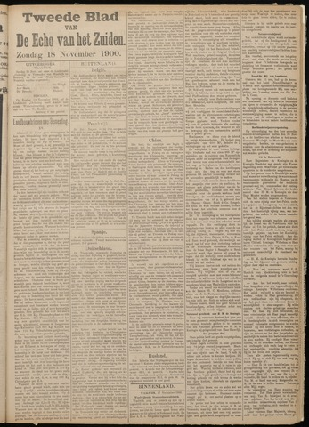 Echo van het Zuiden 1900-11-18