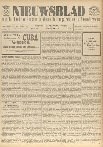 Nieuwsblad het land van Heusden en Altena de Langstraat en de Bommelerwaard 1918-05-11