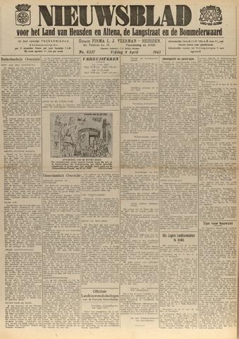 Nieuwsblad het land van Heusden en Altena de Langstraat en de Bommelerwaard 1943-04-09