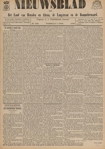 Nieuwsblad het land van Heusden en Altena de Langstraat en de Bommelerwaard 1899-11-01