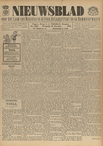 Nieuwsblad het land van Heusden en Altena de Langstraat en de Bommelerwaard 1922-11-15