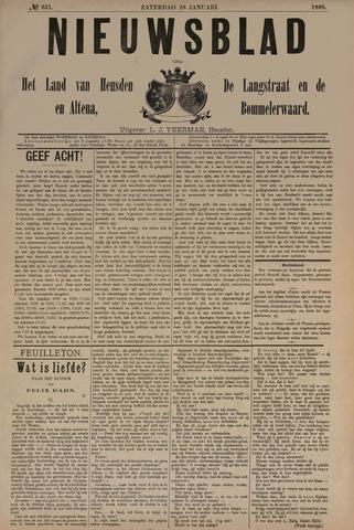 Nieuwsblad het land van Heusden en Altena de Langstraat en de Bommelerwaard 1888-01-28