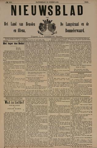 Nieuwsblad het land van Heusden en Altena de Langstraat en de Bommelerwaard 1888-02-11