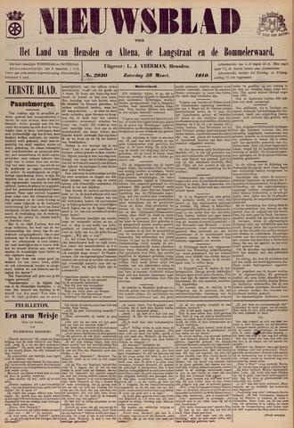 Nieuwsblad het land van Heusden en Altena de Langstraat en de Bommelerwaard 1910-03-26