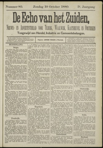 Echo van het Zuiden 1880-10-10