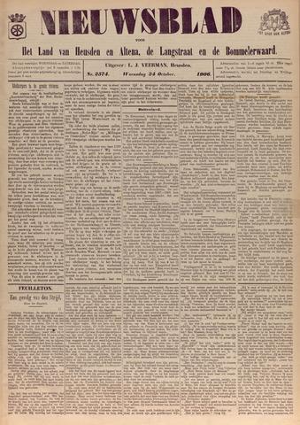 Nieuwsblad het land van Heusden en Altena de Langstraat en de Bommelerwaard 1906-10-24