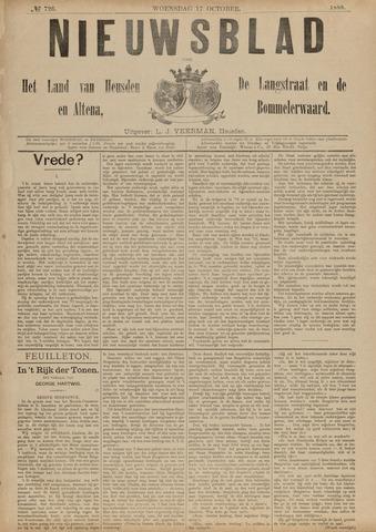 Nieuwsblad het land van Heusden en Altena de Langstraat en de Bommelerwaard 1888-10-17