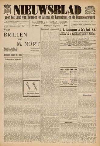 Nieuwsblad het land van Heusden en Altena de Langstraat en de Bommelerwaard 1936-08-21