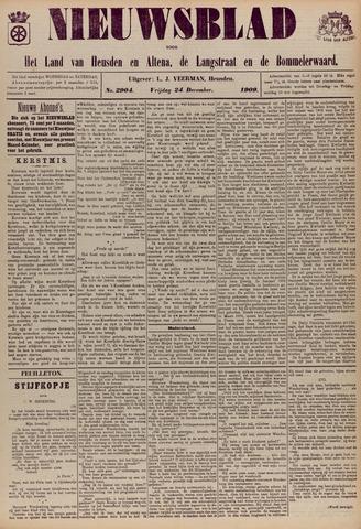 Nieuwsblad het land van Heusden en Altena de Langstraat en de Bommelerwaard 1909-12-24
