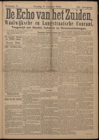 Echo van het Zuiden 1916-01-09