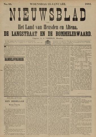 Nieuwsblad het land van Heusden en Altena de Langstraat en de Bommelerwaard 1882-01-25