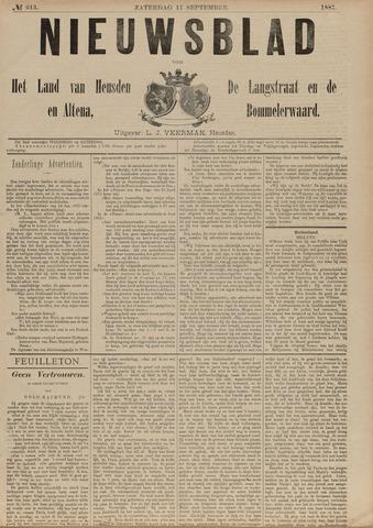 Nieuwsblad het land van Heusden en Altena de Langstraat en de Bommelerwaard 1887-09-17