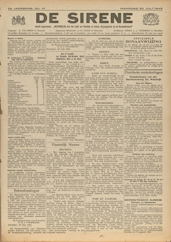 De Sirene 1945-07-30