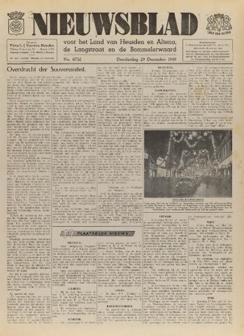 Nieuwsblad het land van Heusden en Altena de Langstraat en de Bommelerwaard 1949-12-29