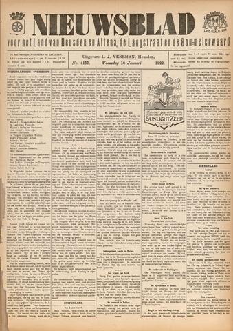 Nieuwsblad het land van Heusden en Altena de Langstraat en de Bommelerwaard 1922-01-18