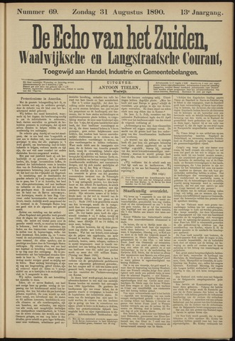 Echo van het Zuiden 1890-08-31