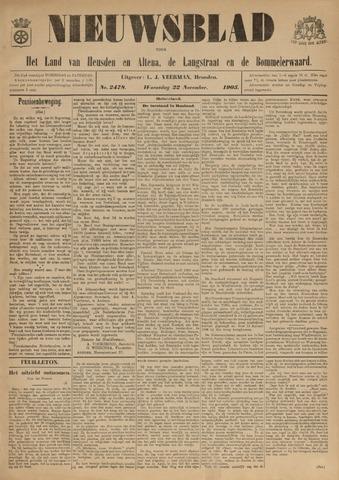 Nieuwsblad het land van Heusden en Altena de Langstraat en de Bommelerwaard 1905-11-22
