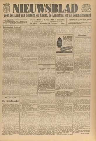 Nieuwsblad het land van Heusden en Altena de Langstraat en de Bommelerwaard 1934-02-28