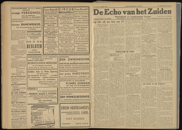 Echo van het Zuiden 1947-07-29