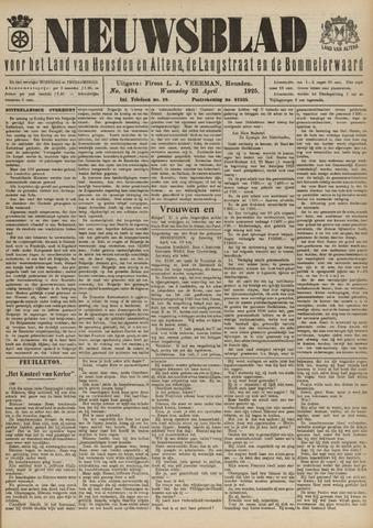 Nieuwsblad het land van Heusden en Altena de Langstraat en de Bommelerwaard 1925-04-22