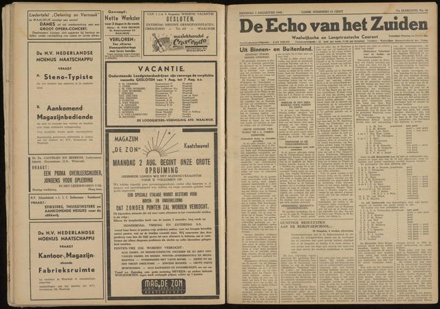 Echo van het Zuiden 1948-08-03