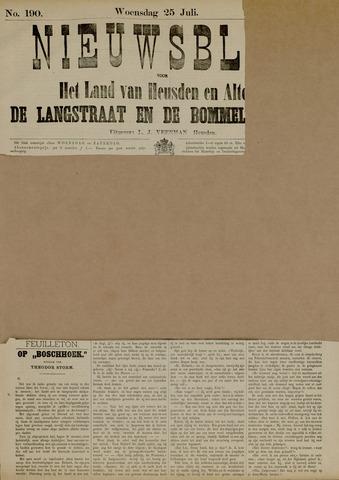 Nieuwsblad het land van Heusden en Altena de Langstraat en de Bommelerwaard 1883-07-25