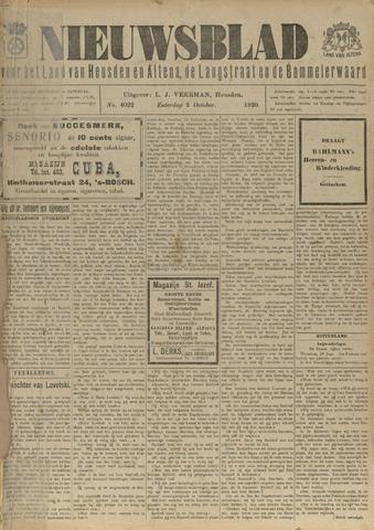 Nieuwsblad het land van Heusden en Altena de Langstraat en de Bommelerwaard 1920-10-02