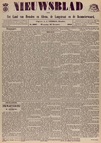 Nieuwsblad het land van Heusden en Altena de Langstraat en de Bommelerwaard 1910-11-16