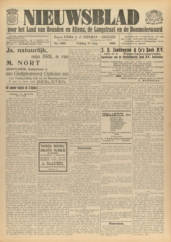 Nieuwsblad het land van Heusden en Altena de Langstraat en de Bommelerwaard 1934-08-17