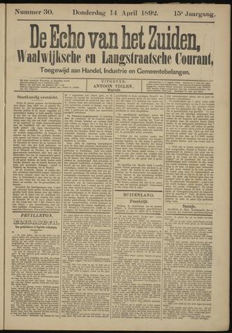 Echo van het Zuiden 1892-04-14