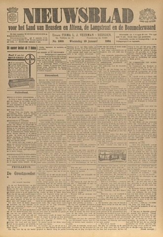Nieuwsblad het land van Heusden en Altena de Langstraat en de Bommelerwaard 1934-01-10