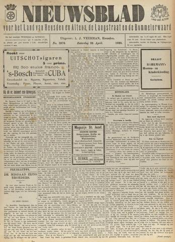 Nieuwsblad het land van Heusden en Altena de Langstraat en de Bommelerwaard 1920-04-24