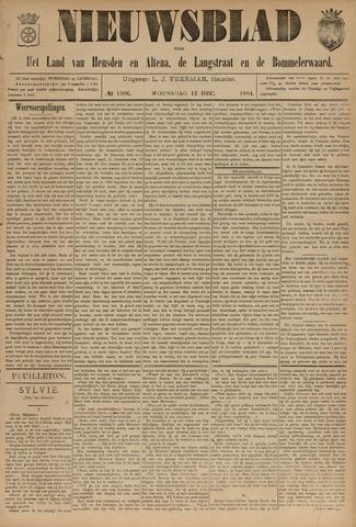 Nieuwsblad het land van Heusden en Altena de Langstraat en de Bommelerwaard 1894-12-12
