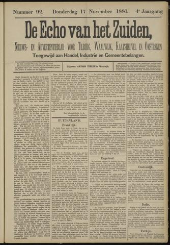 Echo van het Zuiden 1881-11-17