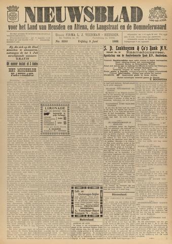 Nieuwsblad het land van Heusden en Altena de Langstraat en de Bommelerwaard 1932-06-03