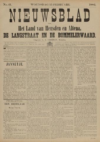Nieuwsblad het land van Heusden en Altena de Langstraat en de Bommelerwaard 1882-02-15