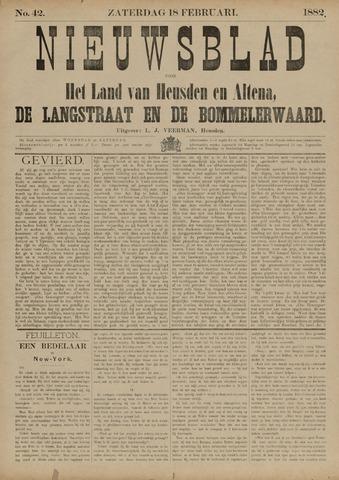 Nieuwsblad het land van Heusden en Altena de Langstraat en de Bommelerwaard 1882-02-18
