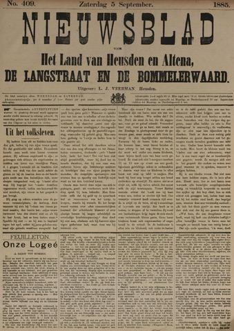 Nieuwsblad het land van Heusden en Altena de Langstraat en de Bommelerwaard 1885-09-05