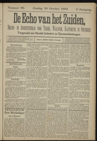 Echo van het Zuiden 1882-10-29