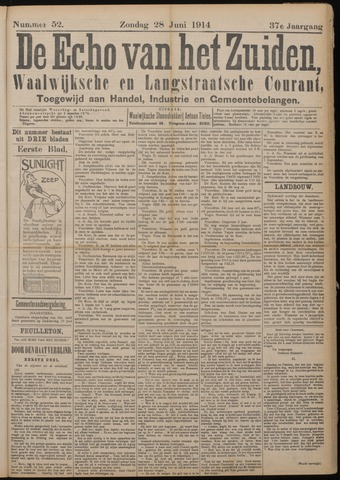 Echo van het Zuiden 1914-06-28