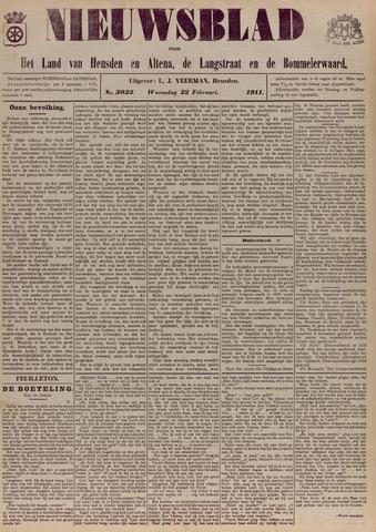 Nieuwsblad het land van Heusden en Altena de Langstraat en de Bommelerwaard 1911-02-22