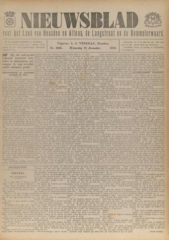 Nieuwsblad het land van Heusden en Altena de Langstraat en de Bommelerwaard 1918-12-18