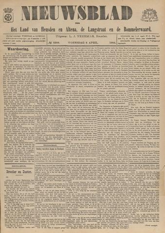 Nieuwsblad het land van Heusden en Altena de Langstraat en de Bommelerwaard 1904-04-06