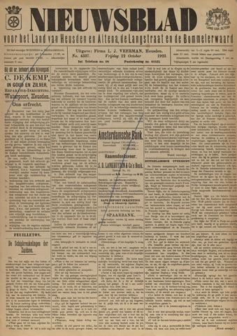 Nieuwsblad het land van Heusden en Altena de Langstraat en de Bommelerwaard 1923-10-12