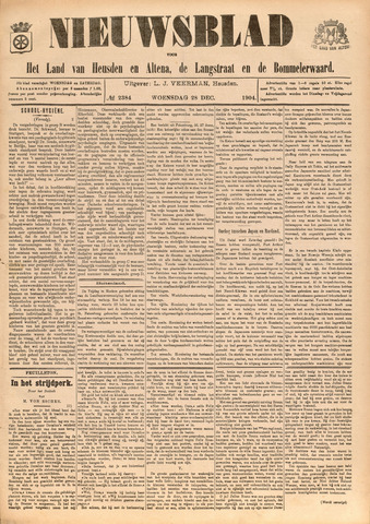 Nieuwsblad het land van Heusden en Altena de Langstraat en de Bommelerwaard 1904-12-28