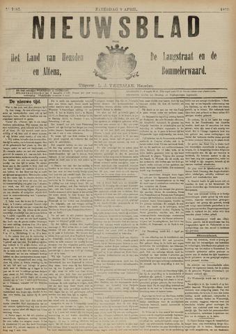 Nieuwsblad het land van Heusden en Altena de Langstraat en de Bommelerwaard 1892-04-09