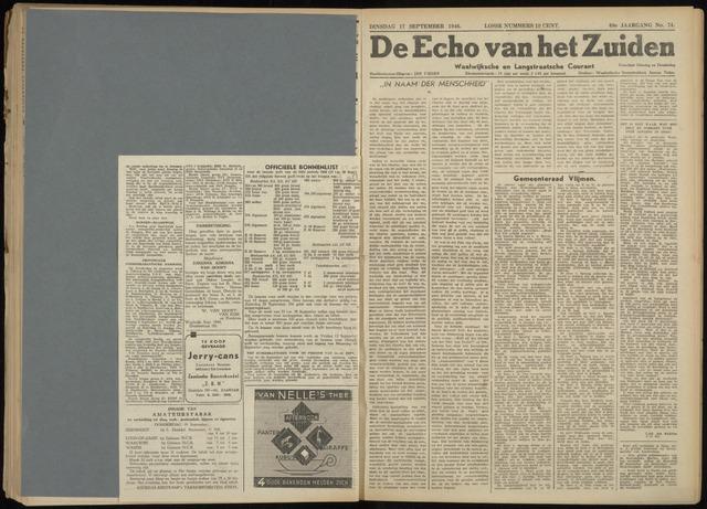 Echo van het Zuiden 1946-09-17